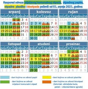 novi-kalendar-odvoza-komunalnog-otpada